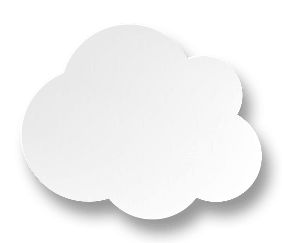 Fusion Bookkeeping white cloud accounting icon as a design element.